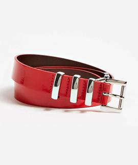 LOGO LEATHER BELT RED ATTITUDE