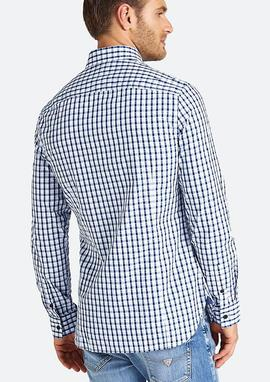 LS JEFFERSON SHIRT SLIM FIT BLUE - WHITE