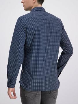 LS COLLINS SHIRT REGULAR FIT BLUE STARS