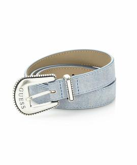 DENIM LEATHER BELT DENIM