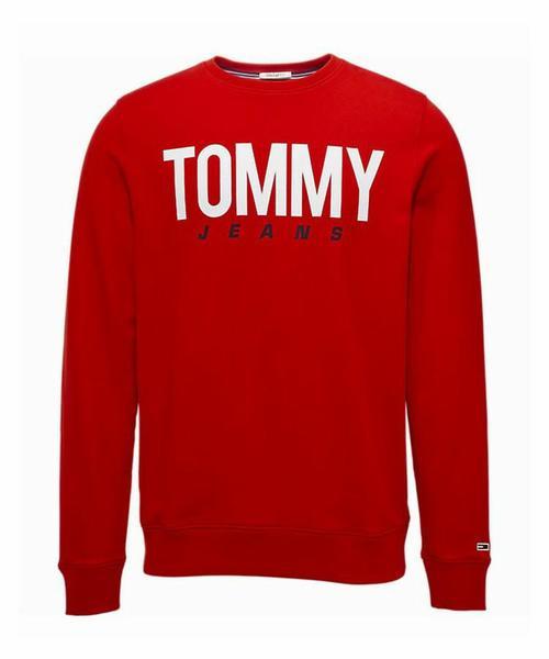 Tommy Hilfiger TJM Essential Flag Crew Sudadera para Hombre